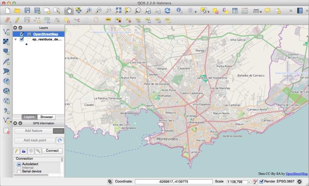 OpenStreetMap over shapefile